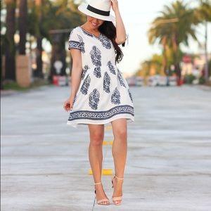 Cotton Floral Dress, XS